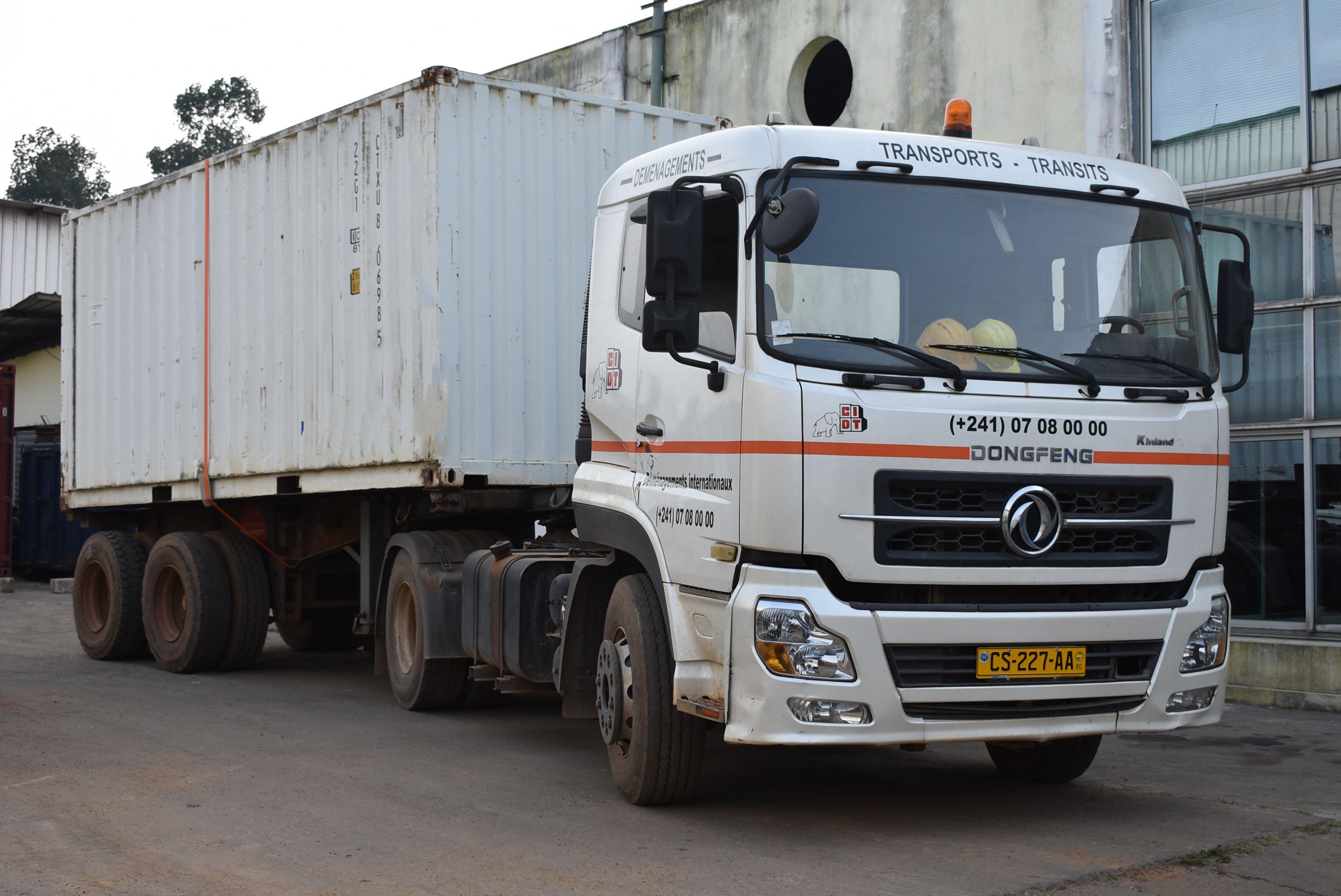 Camion CIDT Gabon Transport routier