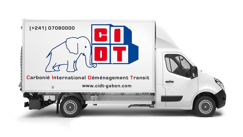 Fourgon CIDT Gabon Déménagement International